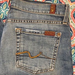7 for all Mankind bootcut jeans. EUC 28